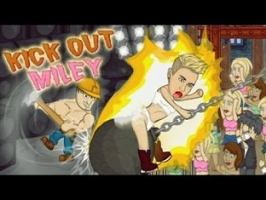 game kick out miley